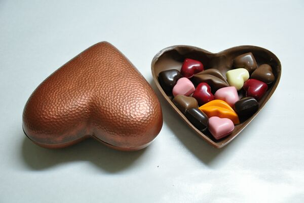 Ciocolata din inima de Valentine`s Day