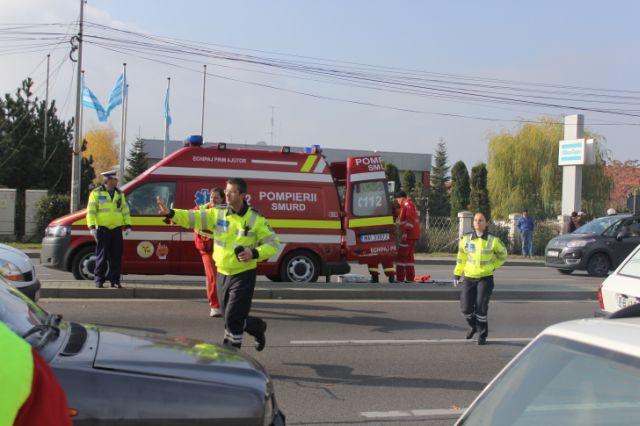 Accident grav la Talmaciu: Mama si fiul ei de sapte ani, loviti pe trecerea de pietoni