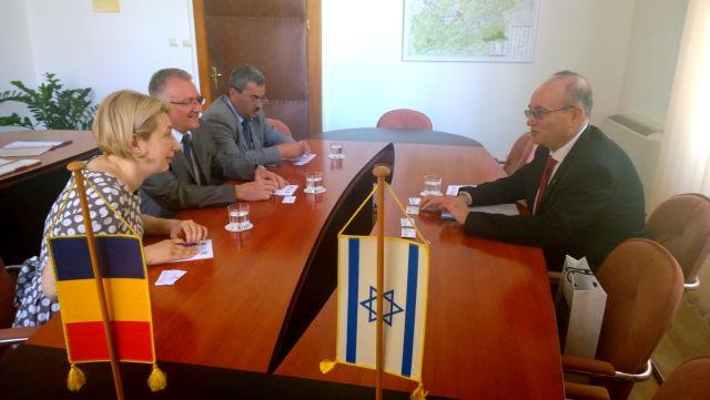 Statul Israel este interesat de colaborarea pe diverse planuri cu judetul Sibiu!