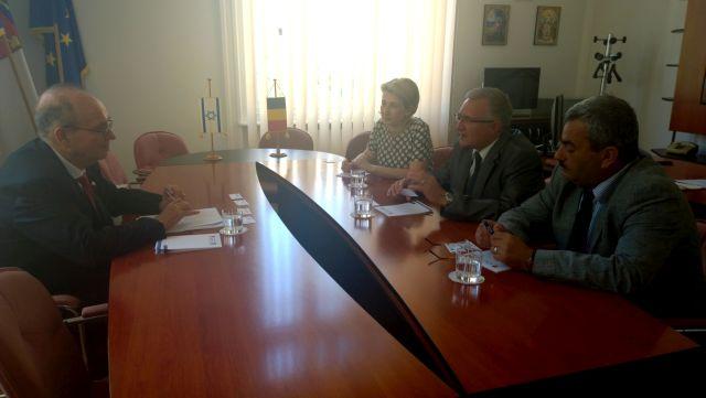 Statul Israel este interesat de colaborarea pe diverse planuri cu judetul Sibiu!2