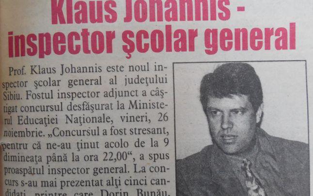 Klaus Johannis, profesorul! Ce spun fostii colegi si elevi despre liderul PNL!