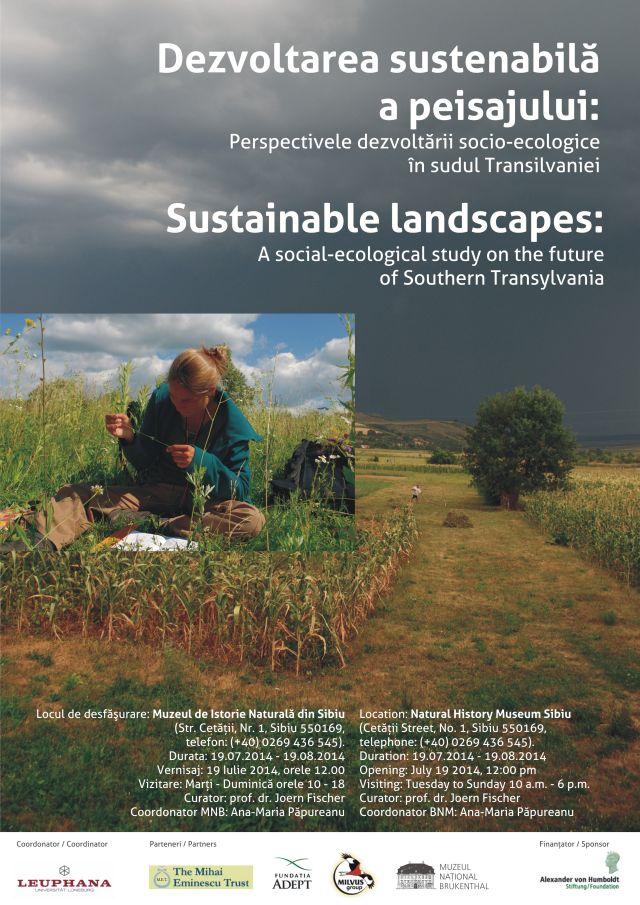 Expozitia Dezvoltarea sustenabila a peisajului Perspectivele dezvoltarii socio-ecologice in sudul Transilvaniei la Sibiu!3