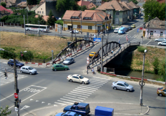 Un nou pod peste Cibin, in zona pietei