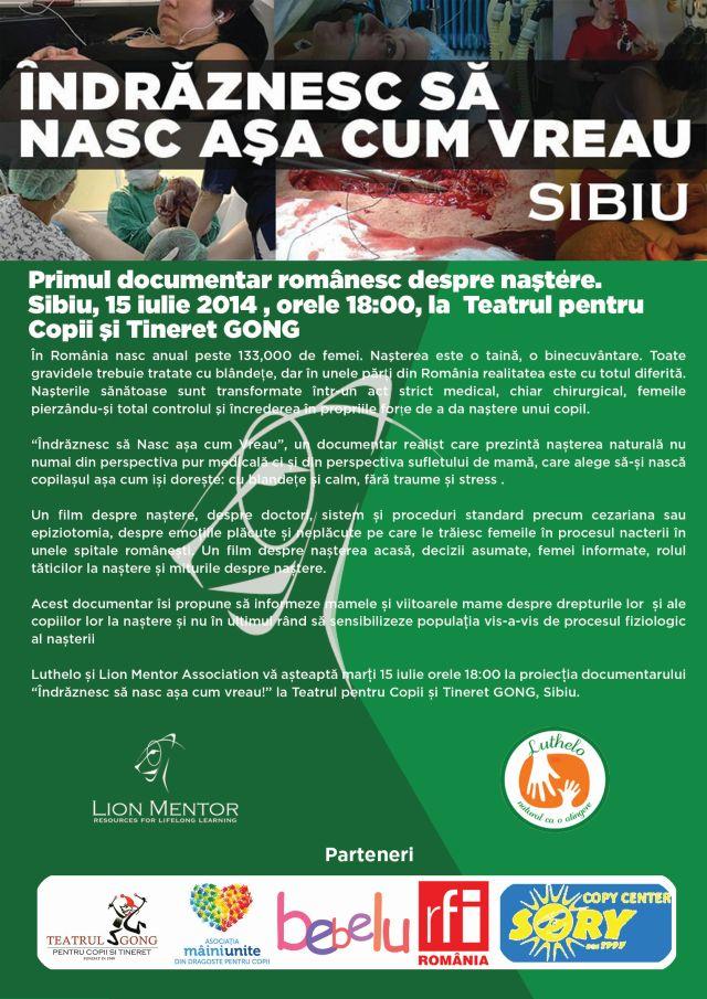 Primul documentar romanesc despre nasteri la Sibiu!2
