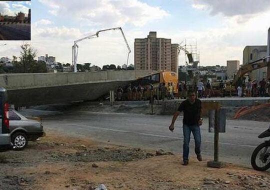 Tragedie la Belo Horizonte: Un viaduct s-a prabusit iar doua persoane au murit!