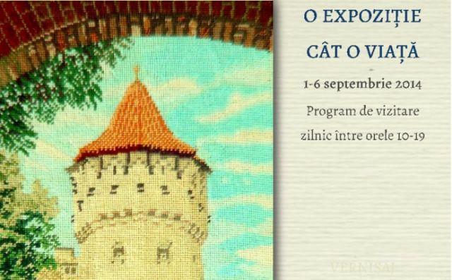 Expozitie de goblenuri si frivolite la Biblioteca Judeteana Astra Sibiu!