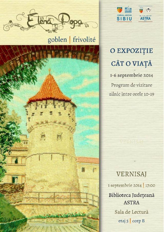 Expozitie de goblenuri si frivolite la Biblioteca Judeteana Astra Sibiu!2