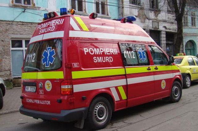 O batrana din Talmaciu a fost lovita de un autoturism care iesea dintr-o parcare!