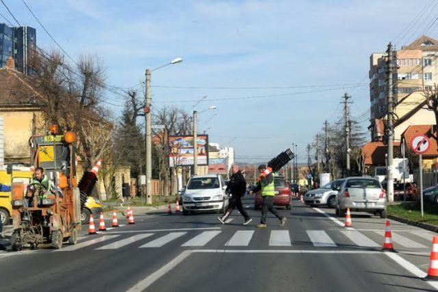 Un nou sens giratoriu pe Calea Dumbravii din Sibiu!2