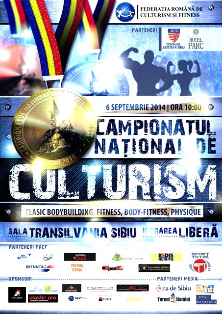 Campionatele Nationale de culturism, clasic bodybuilding, body-fitness si physique, in week-end, la Sibiu