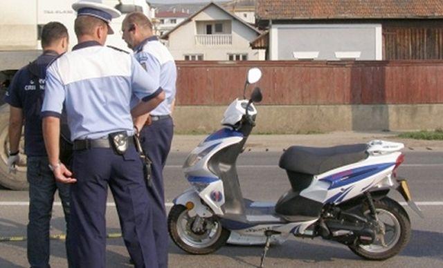 Cu mopedul neinregistrat si fara permis de conducere!2
