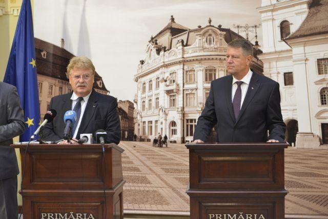 Klaus Iohannis si europarlamentarul Elmar Brok au discutat despre situatia geopolitica prezenta!