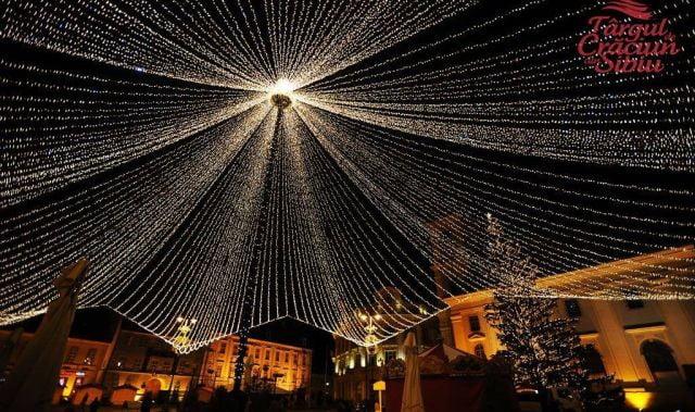 Targul de Craciun de la Sibiu a fost deschis cu imagini cu Iohannis cantand imnul Romniei!2