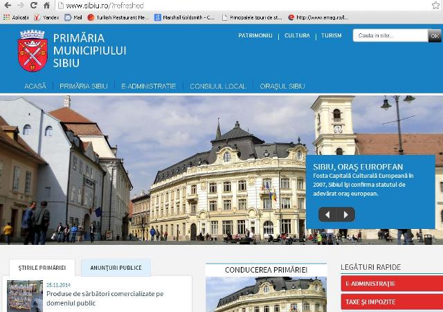 Site-ul Primariei Sibiu are o fata noua
