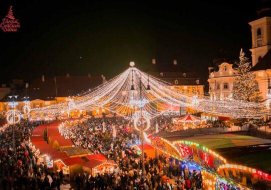 Presedintele Johannis aprinde luminile in cel mai frumos Targ de Craciun din Romania. La Sibiu
