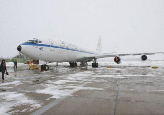 Avionul lui Basescu a aterizat de urgenta la Sibiu!