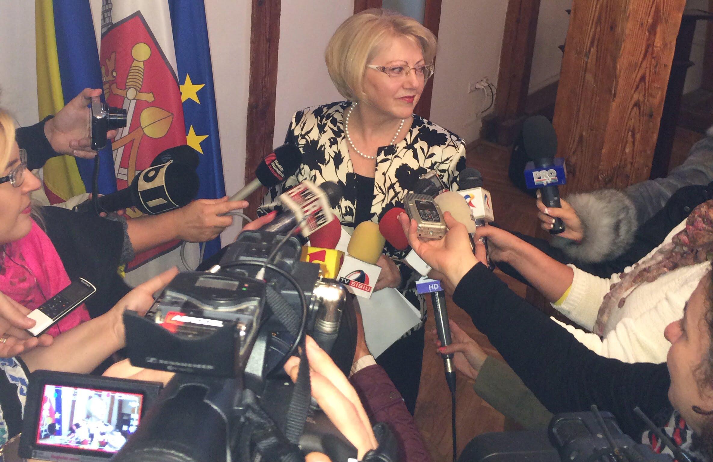 Astrid Fodor, noul primar interimar al Sibiului. Voi continua viziunea lui Klaus Iohannis