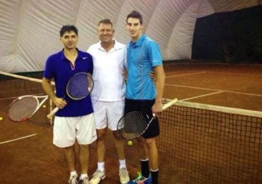 Partenerul de tenis al lui Klaus Iohannis meci demonstrativ in Cupa Davis