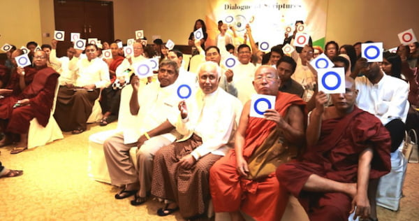 3. Holding up X_O cards in regard to religiousquestions in Myanmar