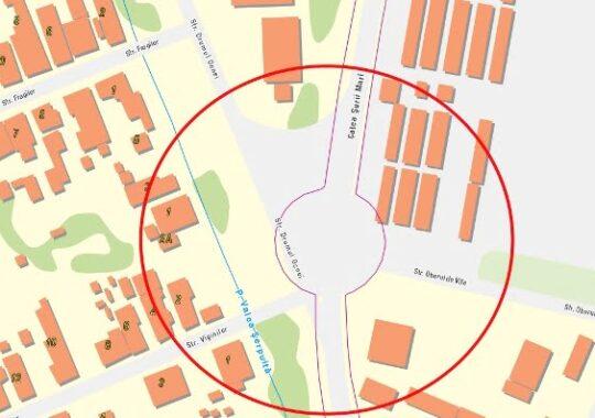 Intersectiile Stefan cel Mare cu Negoi si Drumul Ocnei cu Calea Surii Mari se reconfigureaza. Devin sensuri giratorii