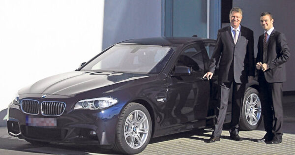 iohannis cu BMW M5