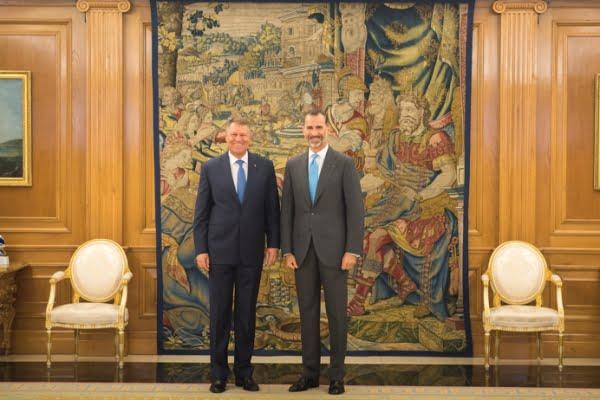 Klaus Iohannis si Regele Spaniei Felipe al VI-lea