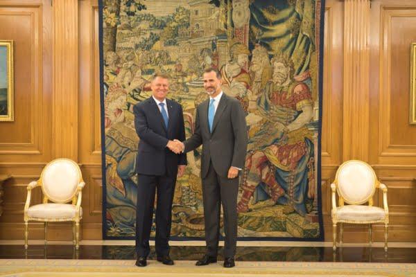 Regele Spaniei Felipe al VI-lea si Klaus Iohannis