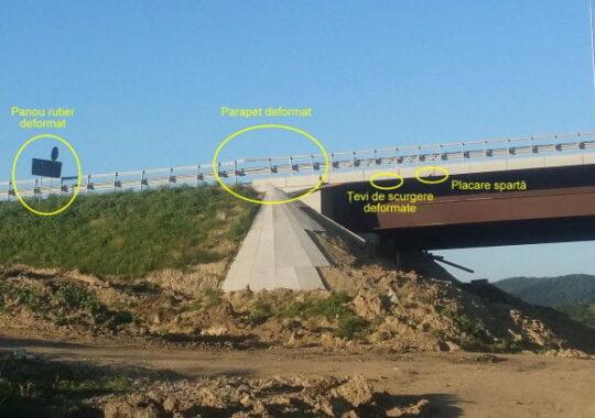 Scenariu sumbru pentru viaductul de la Aciliu: Zeci de masini pot sa cada in gol de la 74 metri!