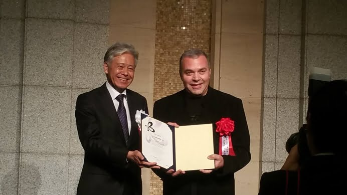 Constantin Chiriac, premiat la Palatul Imperial al Japoniei. Ceremonie intarziata de un cutremur