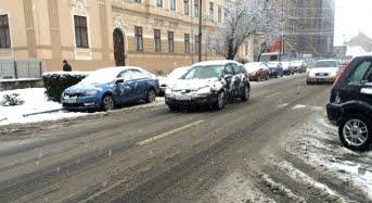 """Prima zapada serioasa din Sibiu. Cat de """"surprinse"""" au fost autoritatile si cum se circula in acest moment"""