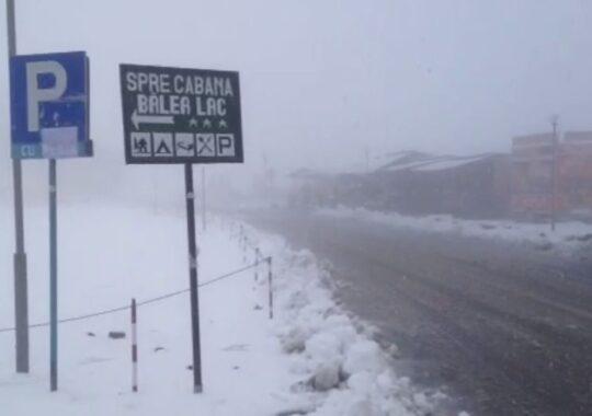 A venit iarna! Prima zapada a cazut azi-noapte in judetul Sibiu