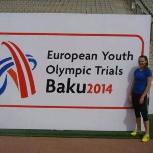 1.Raluca Oprica, atleta, Baku 2014