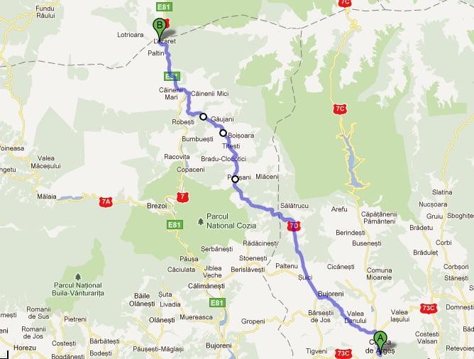 Varianta la Sibiu-Pitesti care sa ocoleasca Valea Oltului. Mai scurt cu 80 km