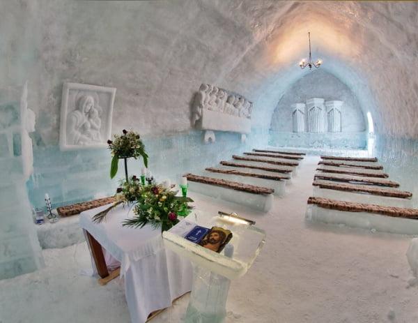 sfintire biserica de gheata, balea lac, sibiu