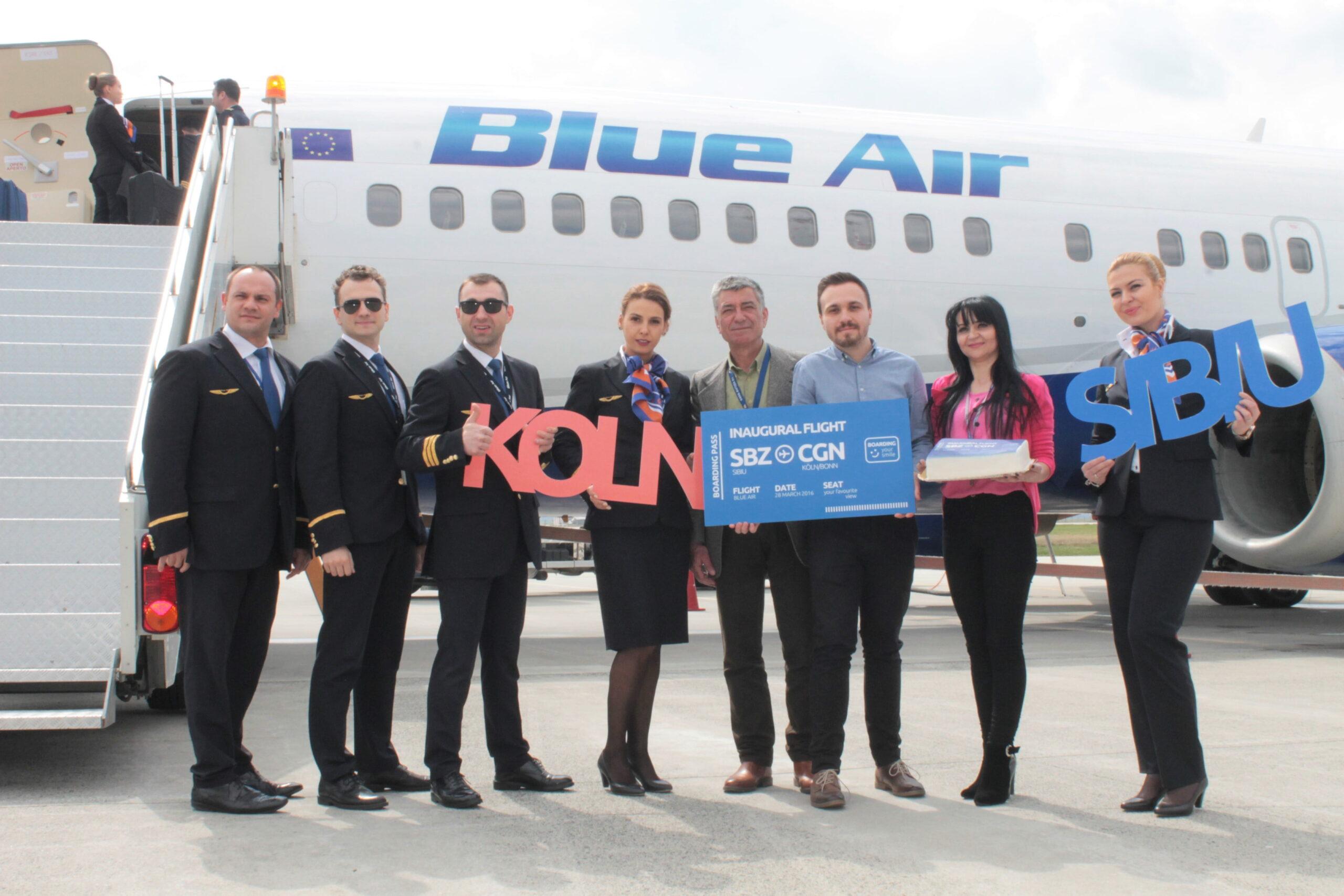 Blue AIR zboara de la Sibiu la Koln