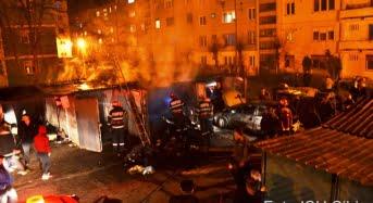 1 martie de foc pentru pompierii sibieni. Au avut de lichidat patru incendii