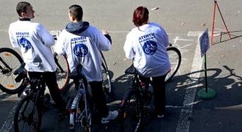 Activitate de primăvară – poliţia sibiană pe biciclete