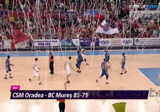 Oradea, prima victorie in finala cu BC Tg. Mures