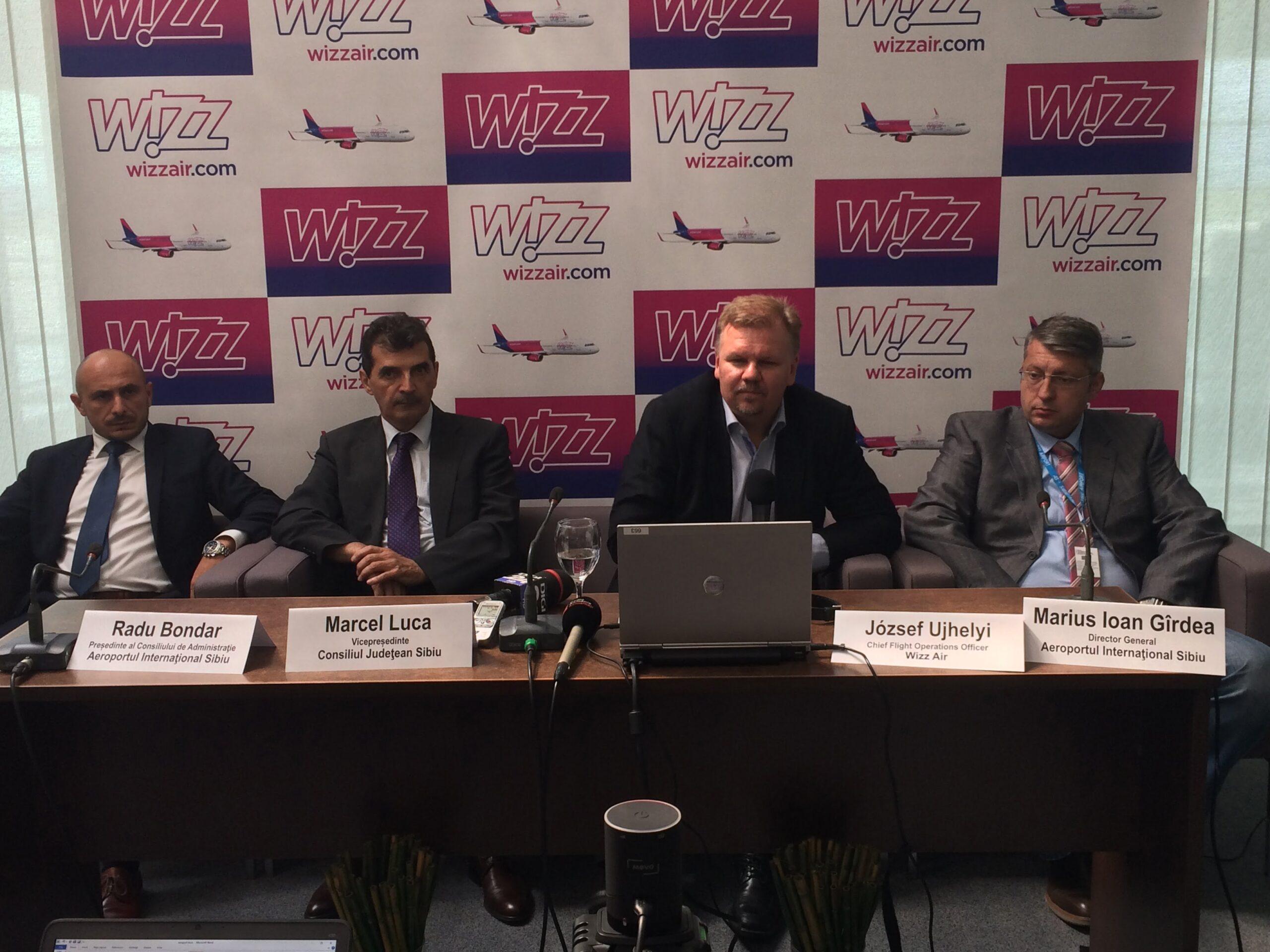 WizzAir isi deschide baza la Sibiu. Si vine cu patru destinatii noi
