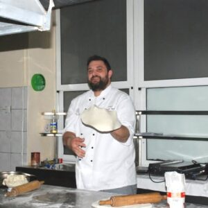 chef manuel betto pecori face pizza